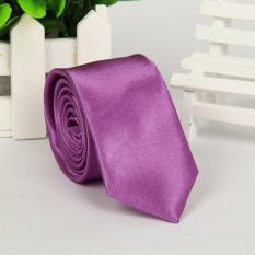Gia Đình Cổ Điển Đơn Giản Của 22 Màu Jacquard Dệt Lụa Blend Men Tie Cà Vạt Màu Tím