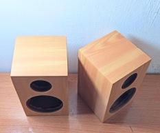 Vỏ thùng loa 8cm vân gỗ 1 cặp. E5.02