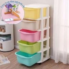 TủNhựa5Tầng5Màu – tủ nhựa đa sắc việt nhật – tủ nhựa 5 tầng duy chuyển được – tủ đồ lắp ráp – hộp chứa đồ – thùng đồ – tủ chứa đồ – nột thất sắp xếp