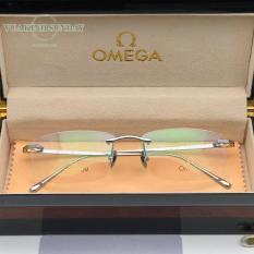 Gọng kính cận titanium mạ vàng 18k omega TT25