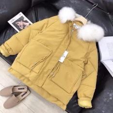 Áo khoác kaki lót lông túi hộp