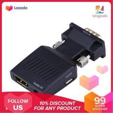 {9.9 Hot Sale Festival}VGA to HDM 1080P HD HDTV Video Audio Converter Box For DVD PC Laptop – intl