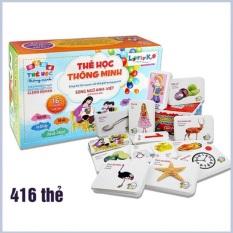 Bộ thẻ học thông minh 16 chủ đề tiếng anh với 416 thẻ song ngữ cho bé sản phẩm tốt với chất lượng độ bền cao và được cam kết sản phẩm y như hình