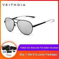 VEITHDIA Fashion Brand Designer Aluminum Magnesium Men's Sun Glasses Polarized Mirror lens Male Eyewear Sunglasses For Men 3801