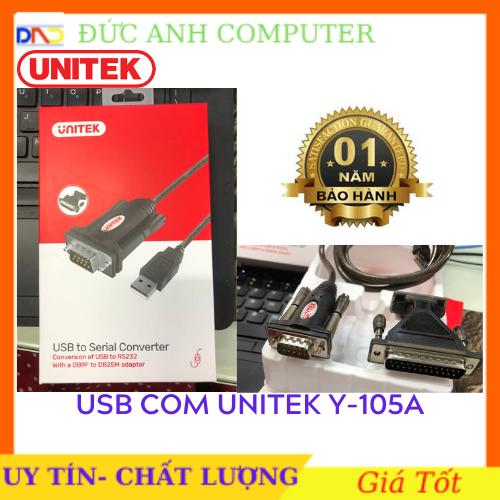 Cáp USB to Com RS232 Unitek Y – 105A , Chính Hãng UNITEK, Bảo Hành 12 Tháng, 1 Đổi 1