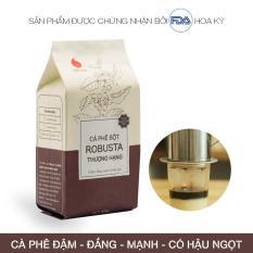 Cà phê nguyên chất Light Coffee , cà phê bột Robusta Thượng hạng , không tẩm ướp hương liệu , 100g
