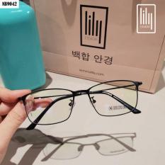 [Lấy mã giảm thêm 30%]Kính Gọng Mảnh Nam Nữ 9042 – Kính Cận Kim Loại-Gọng Kính Hàn Quốc-Gọng Kính Unisex-Gọng Kính Thời Trang-Lily Eyewear
