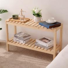 Kệ gỗ tab đầu giường 2 tầng tự lắp ráp Tâm House KT001 – gỗ thông tự nhiên