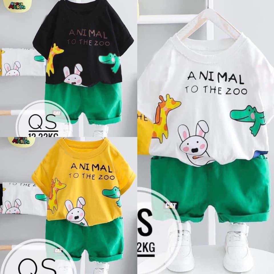 💚 BÁN CHẠY 💚 Set quần áo thun cho bé trai và bé gái mặc hè siêu mát - Size...