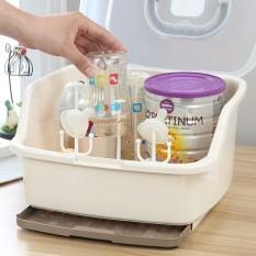 Giá úp bình sữa có nắp đậy – kèm kẹp tiệt trùng, chất liệu nhựa PP cao cấp, không chứa BPA đôc hại, có thể tháo rời, chân giá phẳng có thể đặt giá ở bất cứ đâu