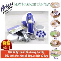 máy massge cầm tay giảm mỡ toàn thân – PPK 273 – Máy Massage Cầm Tay Relax & Spin Tone Chất Lượng Cao, Siêu Tiện Lợi, Giá Tốt – Massage Toàn Thân Giá Rẻ – Giúp lưu thông tuần hoàn khí huyết – giảm căng thẳng, đau nhức-BH UY TÍN 1 ĐỔI 1