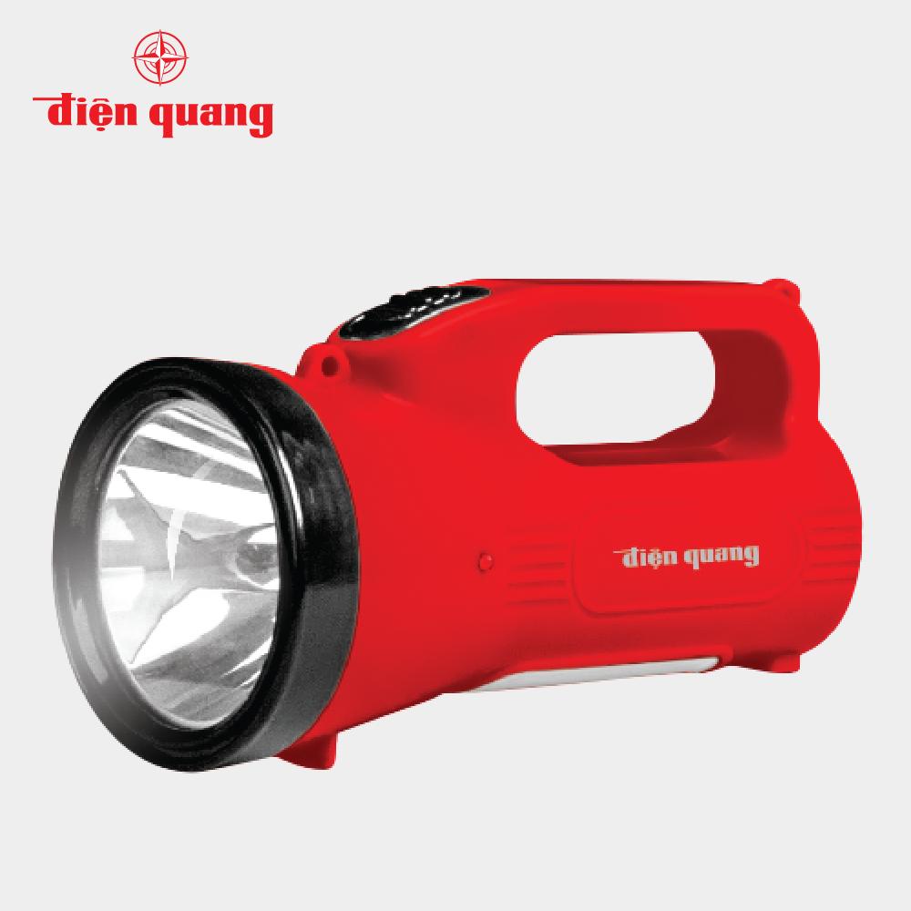 Đèn Pin LED Điện Quang ĐQ PFL07 R RBL (Pin sạc, Đỏ – Đen)