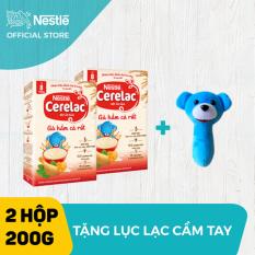Bộ 2 hộp Bột ăn dặm Nestlé Cerelac 200g Gà Hầm Cà Rốt + Tặng 1 lục lạc cầm tay