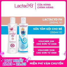 Bộ 2 Chai Dung Dịch Vệ Sinh Phụ Nữ Lactacyd FH 250ml + Sữa Tắm Gội Trẻ Em BB 250ml