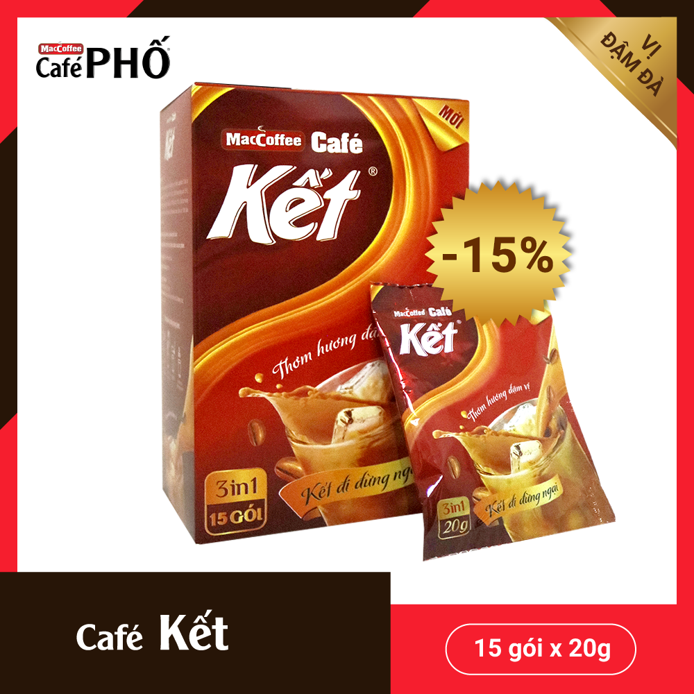 MacCoffee Café Kết 300g thơm ngon, đậm vị café nguyên chất, hàng chính hãng đảm bảo chất lượng, giá thành...