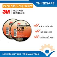 Băng keo điện 3M 1316 cực bền siêu dính, chống hở mép, cách điện lên đến 600V (khổ 18mm x 16m) – Bảo hộ Thinksafe