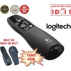 Bút trình chiếu Logitech R400 – Đèn chiếu laze đỏ, Phạm vi 15m, Cắm là sử dụng ngay, Đầu thu không dây mini, Laze loại 2, Không dây 2.4Ghz