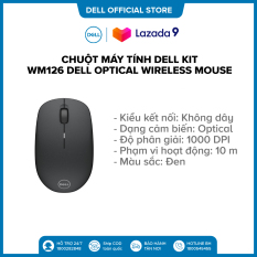 Chuột máy tính Dell Kit – WM126 Dell Optical Wireless Mouse – Black – S&P