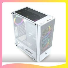 Case VSP B86W Gaming Mặt Lưới – white
