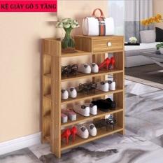 Kệ giày dép gỗ 5 tầng hàng VNXK