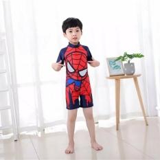 Bộ đồ bơi liền thân tay ngắn có dây kéo sau lưng in siêu nhân cho bé trai 3-15 tuổi chính hãng StarKids