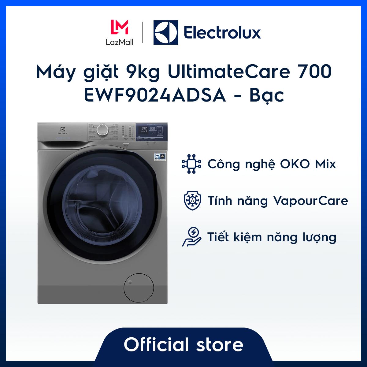 Máy giặt Electrolux 9kg UltimateCare 700 EWF9024ADSA (Bạc) – Công nghệ OKO Mix & Auto Sense