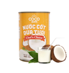 Nước cốt dừa tươi từ 100% dừa nguyên chất Cocoxim Chef's Choice CD.CC400.0001LA – Thương hiệu COCOXIM 400ml – BALO STORE