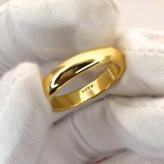 Nhẫn trơn 2 chỉ mạ vàng 24k có khắc 9999 sang trọng cao cấp Gadoshop VN23041901 – đeo đi đám cưới vô cùng quý phái