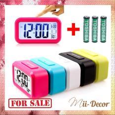 (TẶNG 3 PIN) Đồng Hồ Để Bàn Màn Hình Led – Đủ 5 Màu, Kèm Nhiệt Kế. Đồng hồ báo thức – Đồng Hồ Điện Tử Để Bàn – DH011