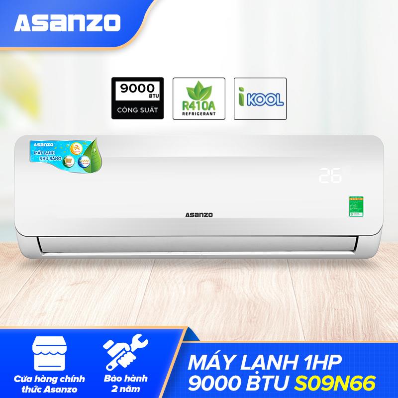 Máy Lạnh Asanzo S09N66 1HP Free Lắp Đặt HCM (Vỏ Dàn Nóng Chống Gỉ Khử Độc Không Khí Màn Hình...
