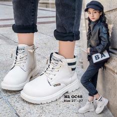 Bốt cổ cao zocn Martin cho bé gái, giày bốt cổ ngắn phong cách Anh Quốc cho bé 3 – 12 tuổi GC48