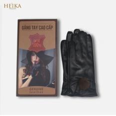 Găng tay da nữ da dê cao cấp lót nỉ, đi xem máy mùa đông siêu ấm