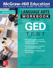 McGraw-Hill Education Language Arts Workbook for the GED Test, 2nd Edition