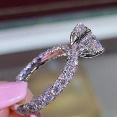 Nhẫn bạc nữ S925 đính đá cao cấp thanh lịch sáng lấp lánh