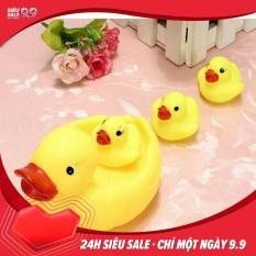 Đồ chơi Đàn vịt thả bồn tắm có tiếng chút chít cho bé gồm 1 vịt mẹ và 3 vịt con
