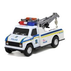Đồ chơi xe mô hình ô tô cứu hộ có âm thanh cảnh satt và đèn xe chạy bằng cót