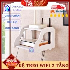 Kệ treo wifi 2 tầng trang trí Tết nhỏ gọn tiện lợi giá rẻ – Ico Home