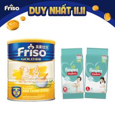 Bột ăn dặm sữa Friso Gold 300g – Tặng 2 gói tã Pampers M4 và L4 trị giá 60K – Giới hạn 10 sản phẩm/khách hàng