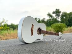 Đàn Guitar Acoustic ST-M2 cho người mới tập chơi tặng 5 món phụ kiện chất liệu mặt trước gỗ thông nguyên tấm, bấm nhẹ, không gây đau tay