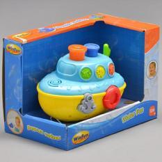 Đồ chơi tắm tàu thủy phun nước có nhạc hiệu Winfun 7106