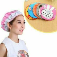 Mũ tắm chùm kute đầu dành cho nữ dùng khi tắm gội, ủ tóc, trang điểm, rửa mặt