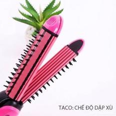 Máy duỗi tóc, máy bấm tóc, máy uốn xù tạo kiểu tóc 3 chức năng: duỗi, uốn, bấm tạo kiểu tóc – Nova 3in1
