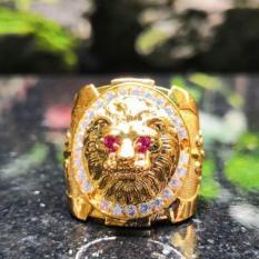 Nhẫn mạ vàng 24k Mặt sư tử