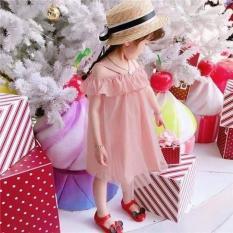 Váy hè cho bé gái màu hồng cánh sen cực duyên dáng