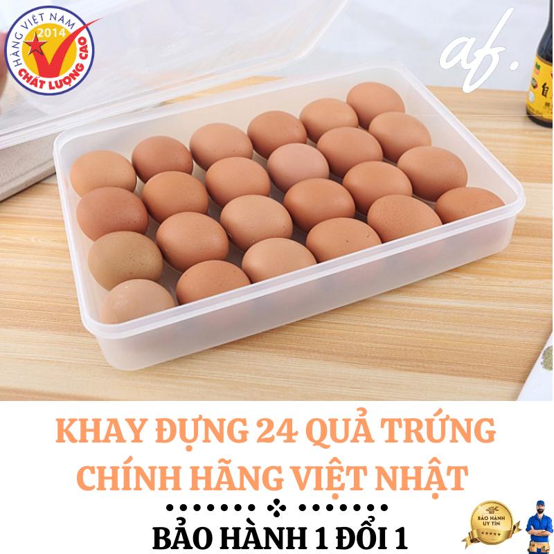 Khay đựng trứng 24 quả – Hàng việt nam chất lượng cao – cao cấp có nắp – Chất liệu nhựa – Chính hãng Việt Nam Bảo hành 1 đổi 1