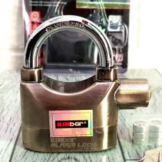 Ổ khóa báo động chống trộm Kinbar Alarm Lock móc ngắn còi báo động 110 dB ( vàng )