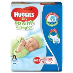 Miếng Lót Sơ Sinh Huggies NB2 60