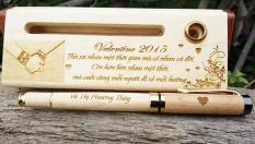 Hộp bút gỗ – khắc nội dung theo yêu cầu