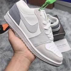 Giày Jordan Low 1 Thấp cổ, Giày Jordan Paris Xám Xanh cổ thấp nam nữ full box bill