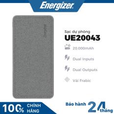 Sạc dự phòng Energizer 20000mAh bọc vải Fabric thời trang – UE20043